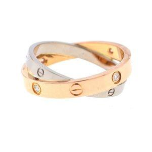 Cartier Gold 18k Two Tone 6 Diamonds Love